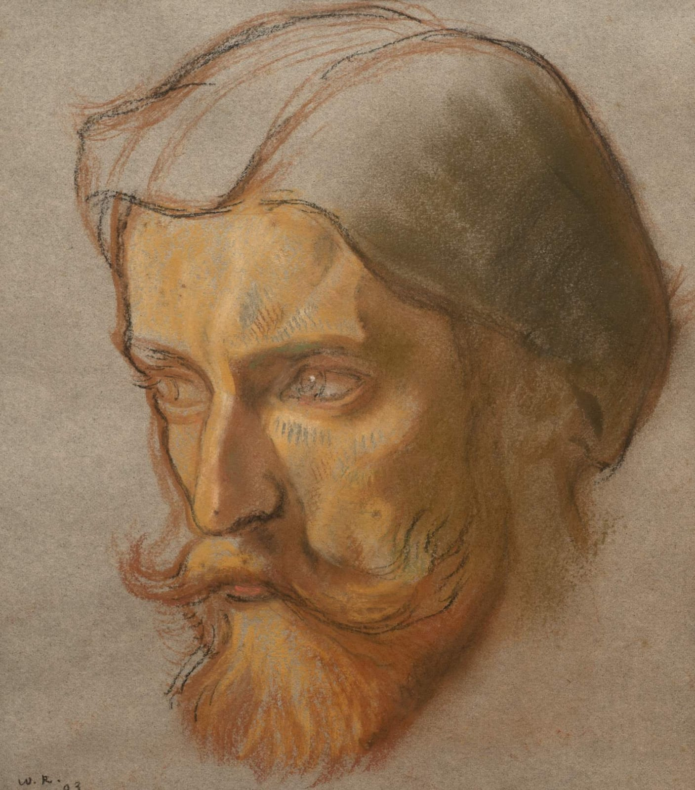 William Rothenstein (1872-1945) Augustus John 1903 Pastel on paper 22 x 19.5 cm Bradford Museums and Galleries To see and discover more about this artist click here