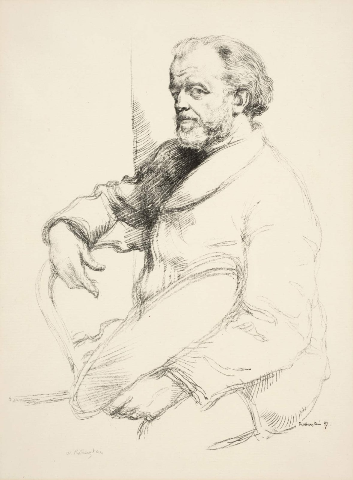 William Rothenstein (1872-1945) Portrait of Henri Fantin-Latour 1898 Lithograph published as part of The French Set 53 x 39 cm Bradford Museums and Galleries To see and discover more about this artist click here