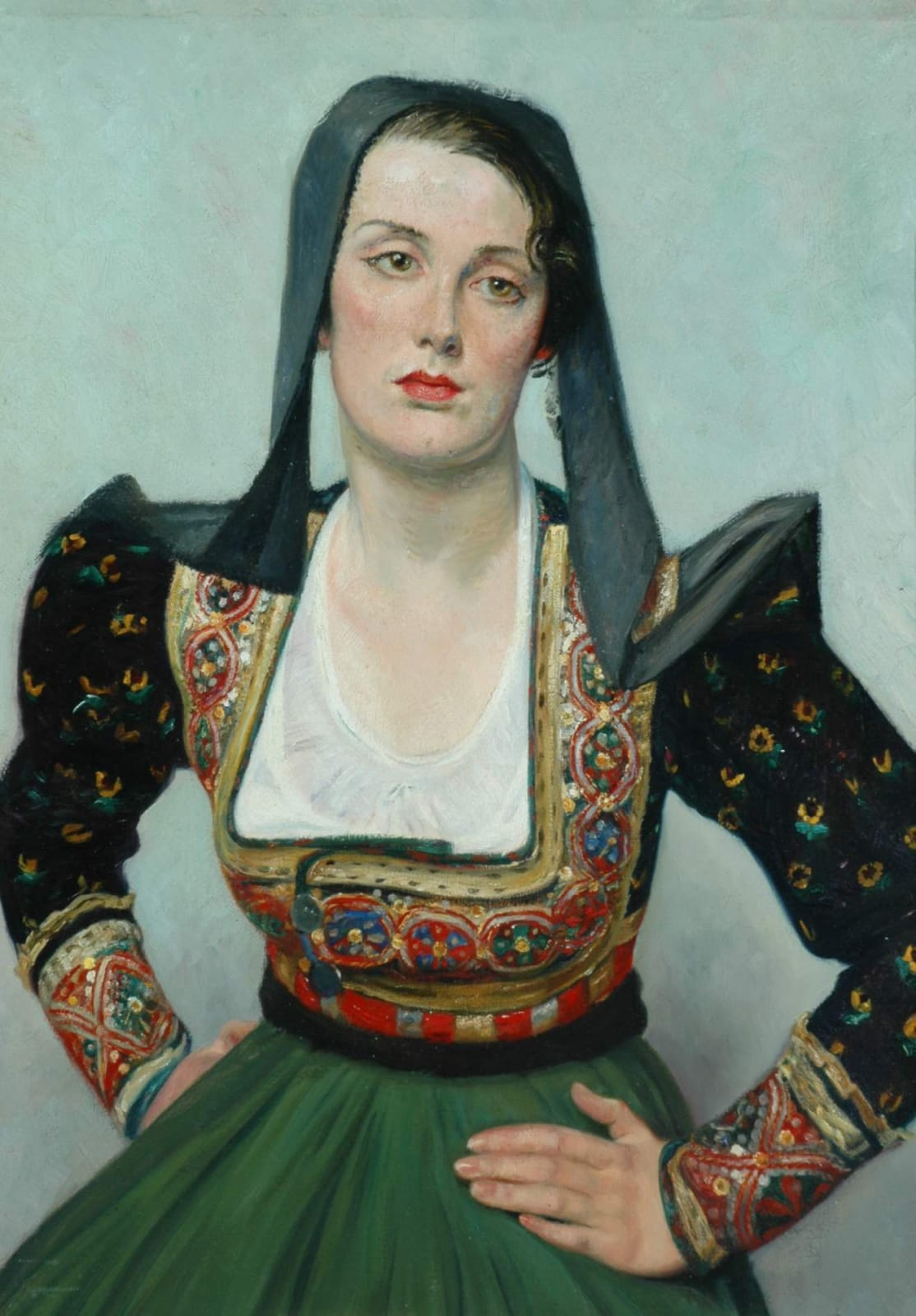 William Rothenstein (1872-1945) Miss Grant c. 1925 Oil on canvas 106.6 x 61 cm Bradford Museums and Galleries To see and discover more about this artist click here