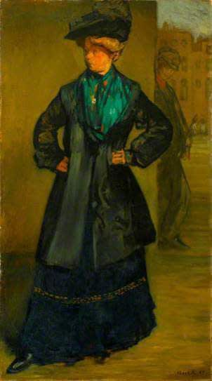 Albert Daniel Rutherston (1881-1953) The Coster Girl 1907 Oil on canvas 81.3 x 44.5 cm Arts Council Collection © Albert Daniel Rutherston estate To see and discover more about this artist click here