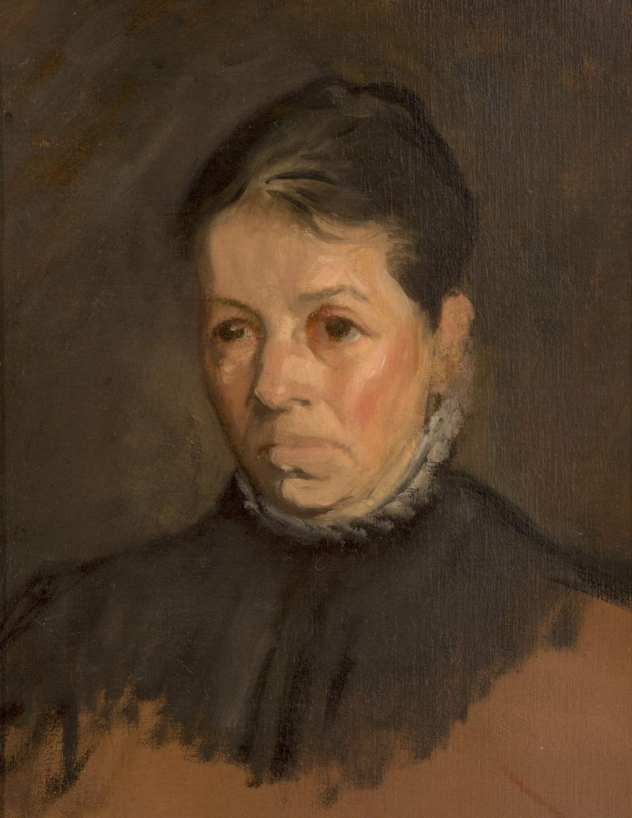 William Rothenstein (1872-1945) Bertha Rothenstein c. 1900 Oil on board 47 x 36.5 cm Bradford Museums and Galleries To see and discover more about this artist click here