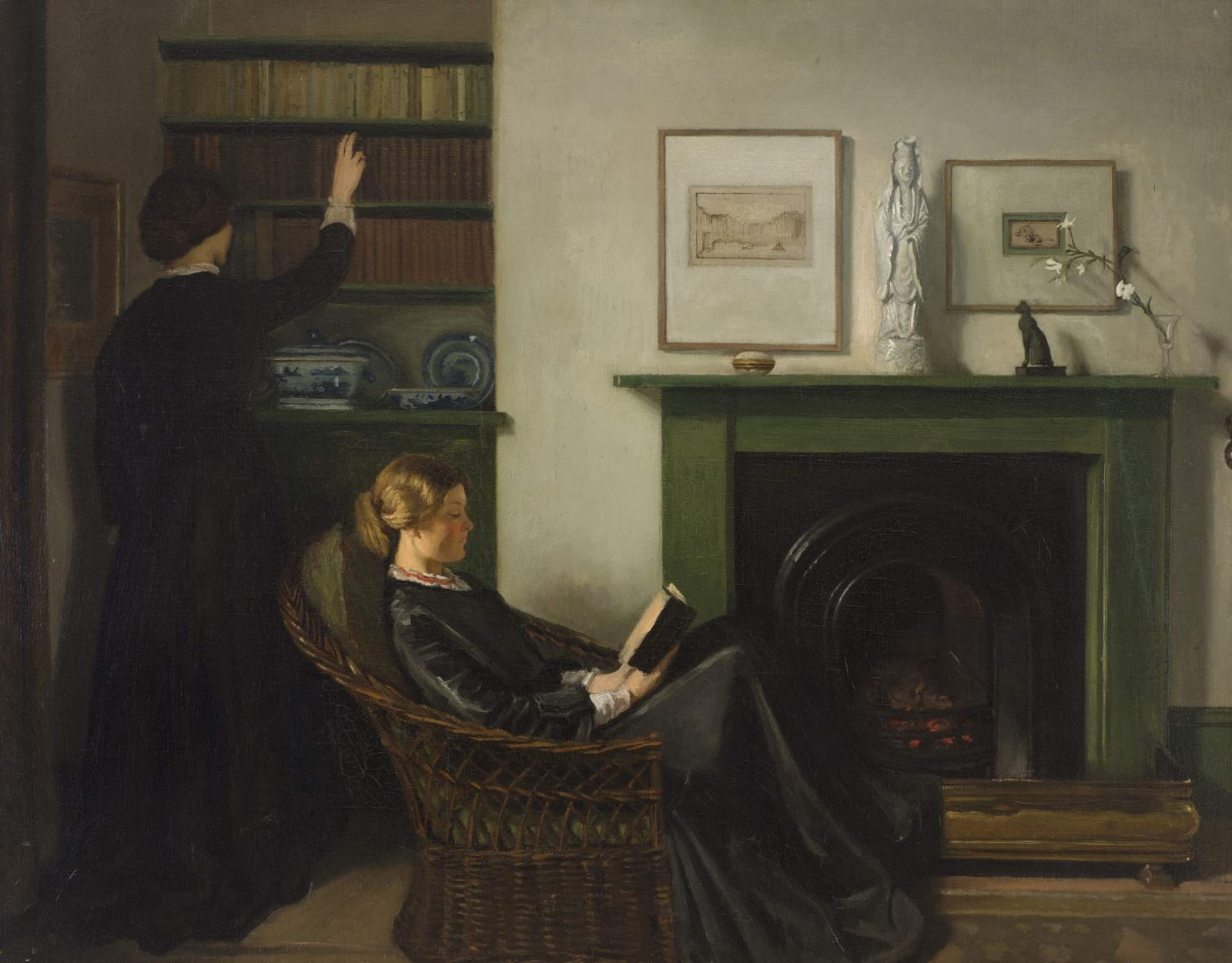 William Rothenstein (1872-1945) The Browning Readers 1900 Oil on canvas 76 x 96.5 cm Bradford Museums and Galleries To see and discover more about this artist click here