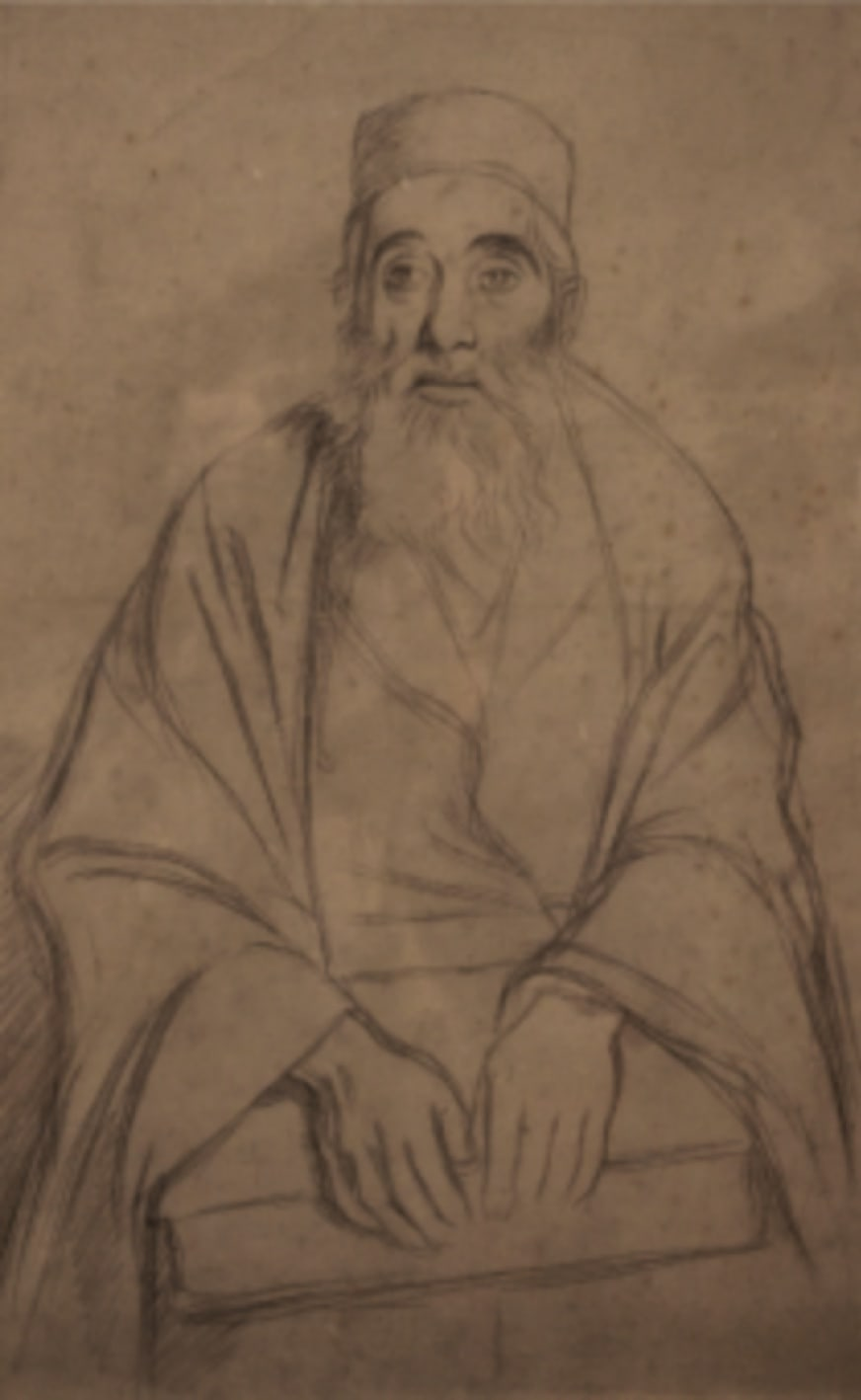 William Rothenstein (1872-1945) Seated Rabbi c. 1905-06 Pencil on paper 37 x 23 cm Private Collection To see and discover more about this artist click here