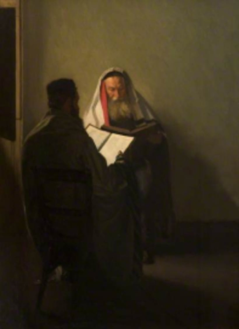 William Rothenstein (1872-1945) Corner of the Talmudic School 1904 Oil on canvas 90 x 70.5 cm Gallery Oldham To see and discover more about this artist click here
