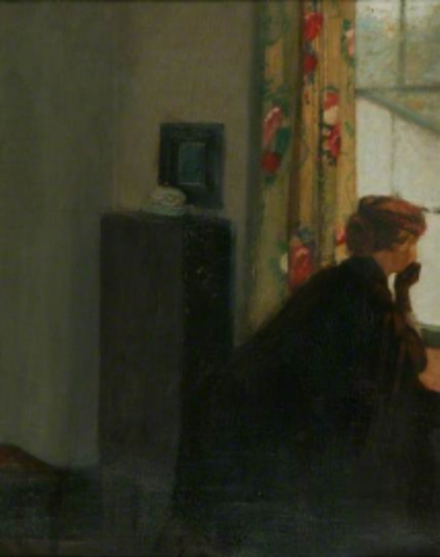William Rothenstein (1872-1945) At the Window c. 1901 Oil on canvas 56.3 x 44.9 cm Manchester City Galleries To see and discover more about this artist click here