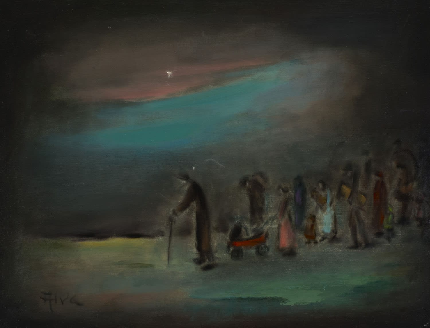 Siegfried Solomon Alweiss 'Alva' (1901-1973) Exodus n.d. Oil on canvas 69.8 x 90 cm Ben Uri Collection © Alva estate To see and discover more about this artist click here