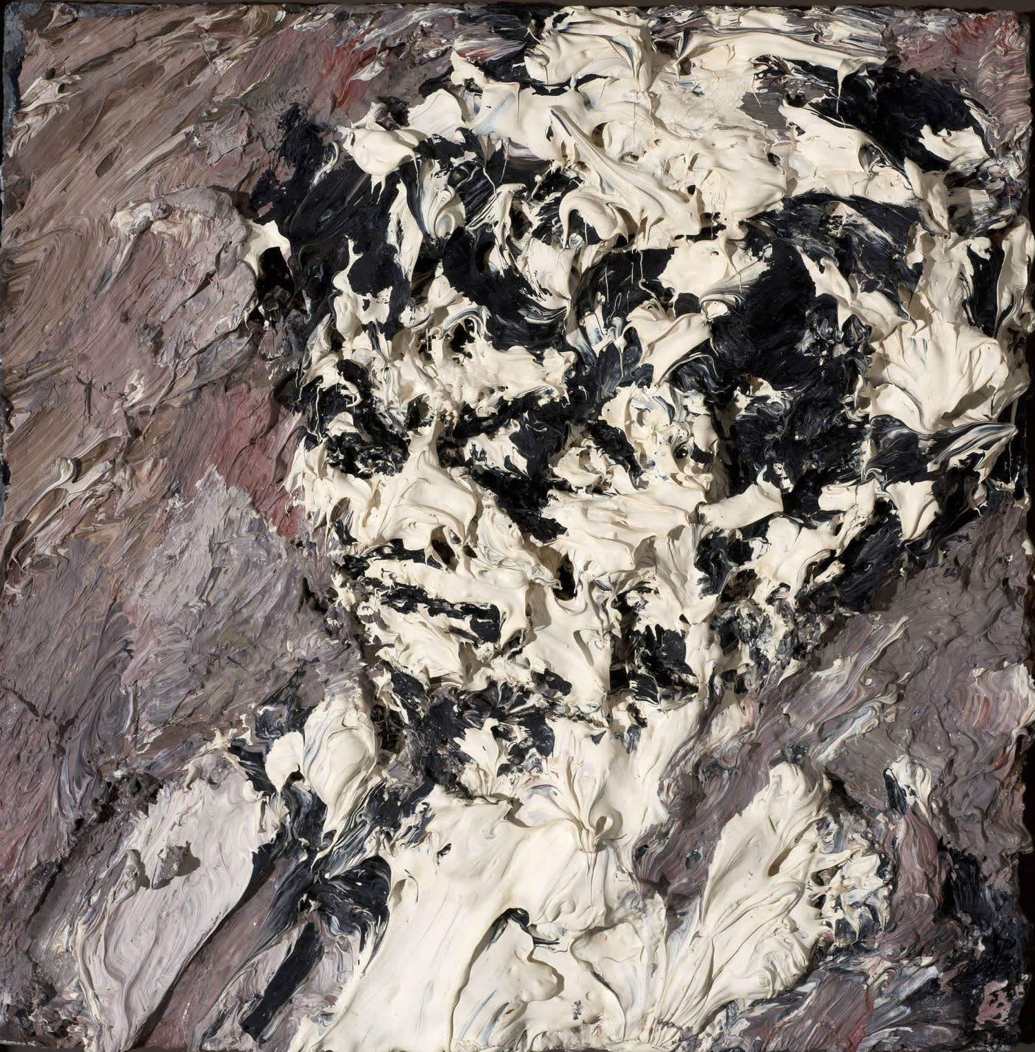 Frank Auerbach (1931-) Head of Helen Gillespie c.1962-64 Oil on board 29.2 x 29.2 cm Ben Uri Collection © Frank Auerbach, courtesy Marlborough Fine Art To see and discover more about this artist click here