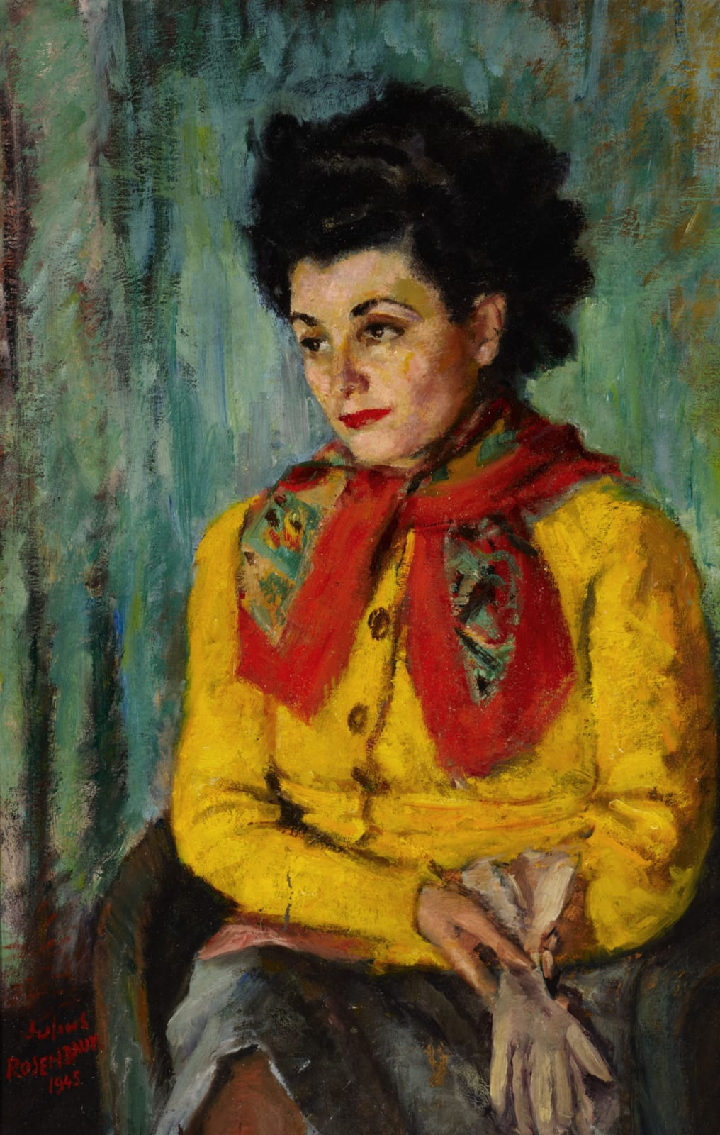 Julius Rosenbaum (1897-1956) Portrait of Charlotte 1945 Oil on canvas 80 x 52 cm Ben Uri Collection © Julius Rosenbaum estate To see and discover more about this artist click here