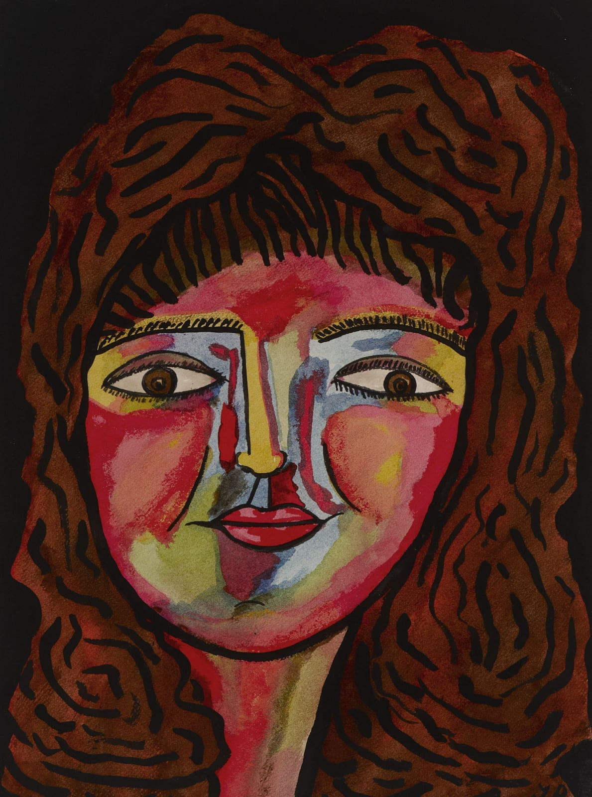 Jack Bilbo (1907-1967) Miriam 1963 Gouache on paper 46.7 x 35 cm Ben Uri Collection © Jack Bilbo estate To see and discover more about this artist click here