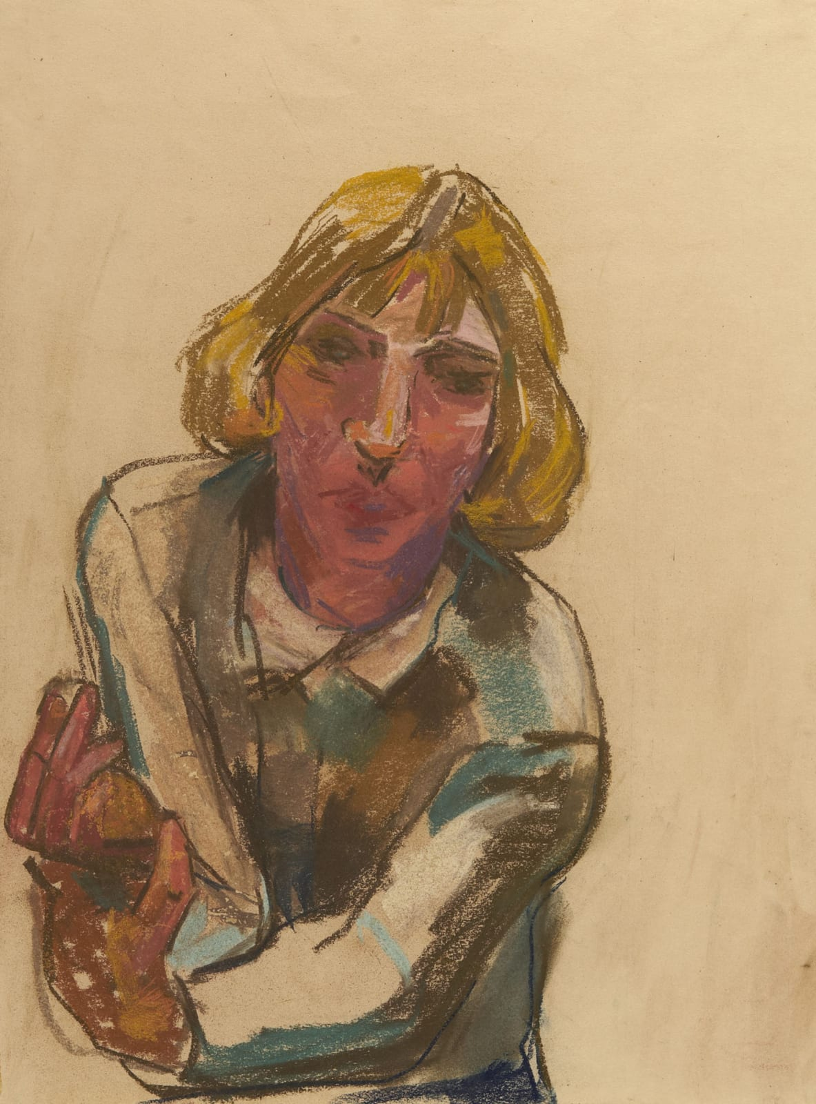 Hilde Goldschmidt (1897-1980) Frau Trautz Schranz 1951 Pastel on paper 50 x 37.4 cm Ben Uri Collection © Hilde Goldschmidt estate To see and discover more about this artist click here