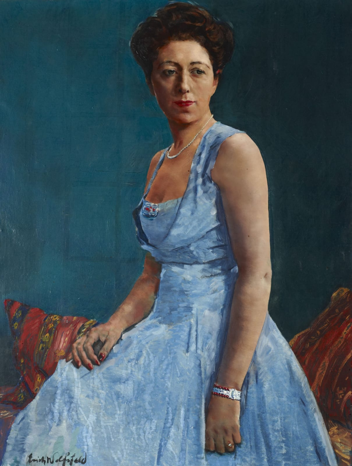 Erich Wolfsfeld (1885-1956) Portrait of Dorothy Stone n.d. Oil on canvas 99.5 x 76.5 cm Ben Uri Collection © Erich Wolfsfeld estate To see and discover more about this artist click here