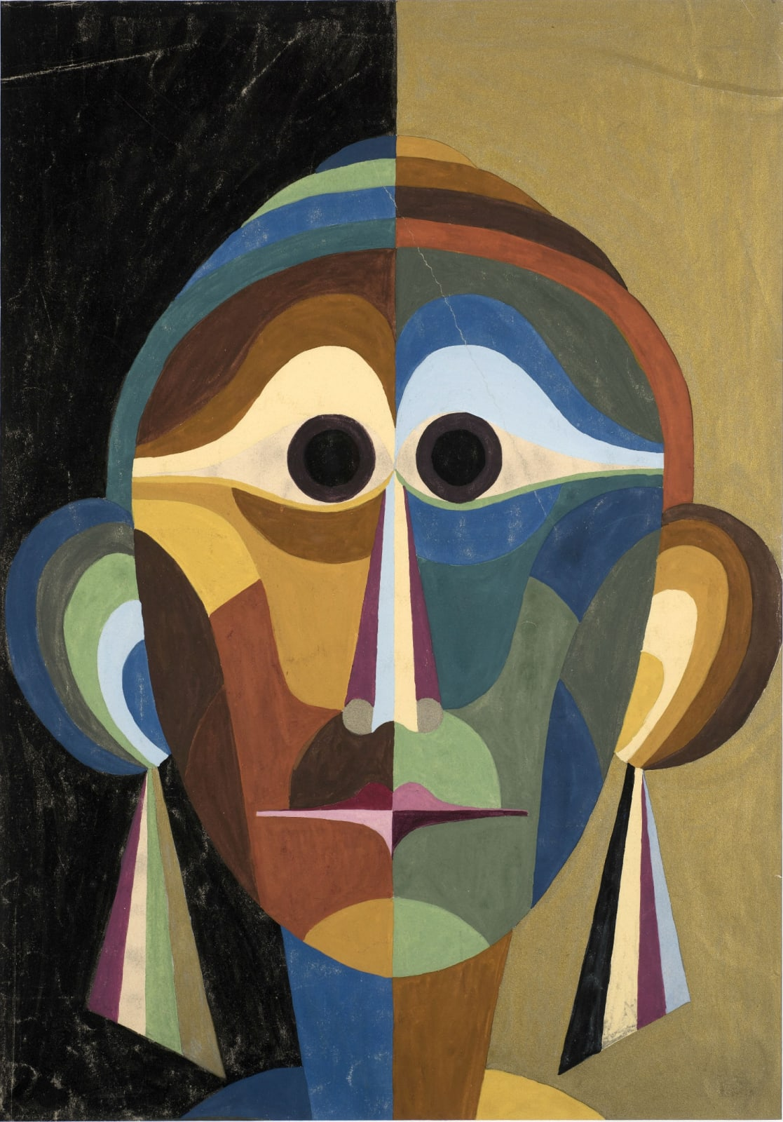 Elisabeth Tomalin (1912-2012) Head c.1920s Gouache on paper 51 x 36.1 cm Ben Uri Collection © Elisabeth Tomalin estate To see and discover more about this artist click here
