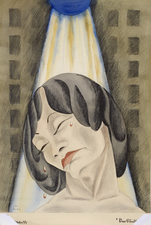 Dodo (1907-1998) Verkundigung (Annunciation) 1933 Watercolour and pencil on paper 56 x 42 cm Ben Uri Collection © Dörte Bürgner 'Dodo' estate To see and discover more about this artist click here