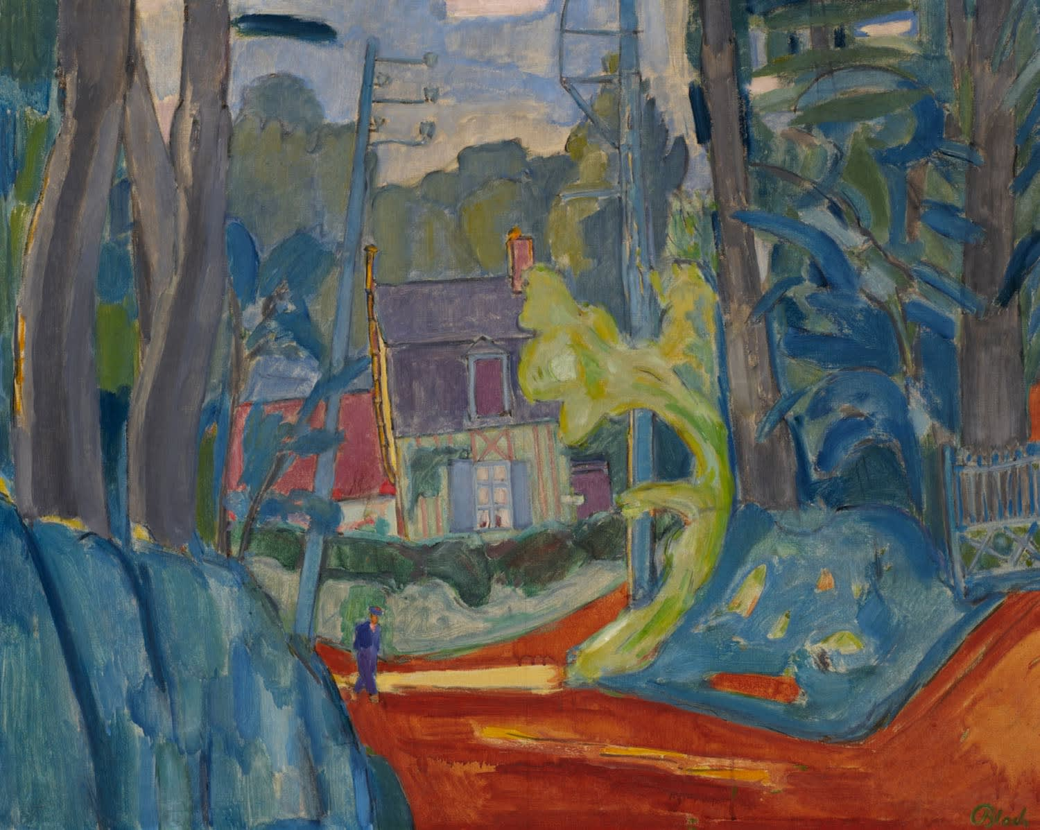 Martin Bloch (1883-1954) House in Varengeville, Normandy 1939 Oil on canvas 63.5 x 79.7 cm Ben Uri Collection © Martin Bloch Trust To see and discover more about this artist click here