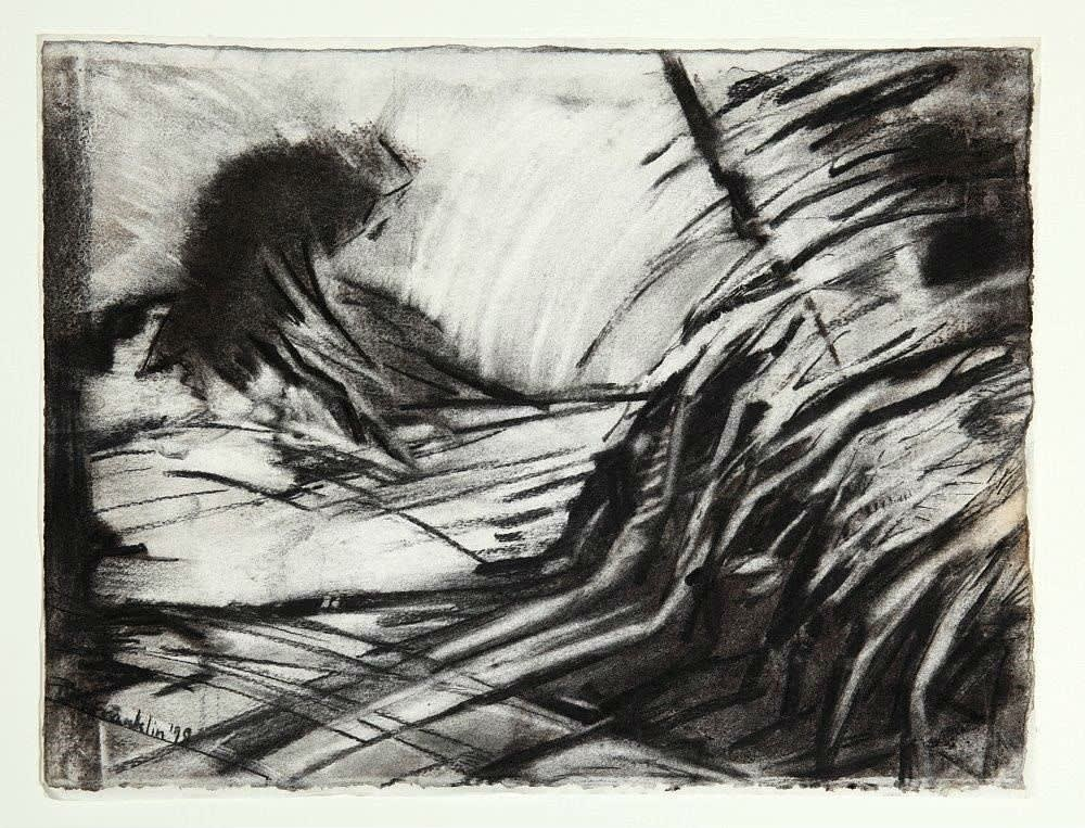 L. Michèle Franklin (1958-) Body Bank 1998 Charcoal on paper 29 x 39 cm Ben Uri Collection © Michele L. Franklin To see and discover more about this artist click here