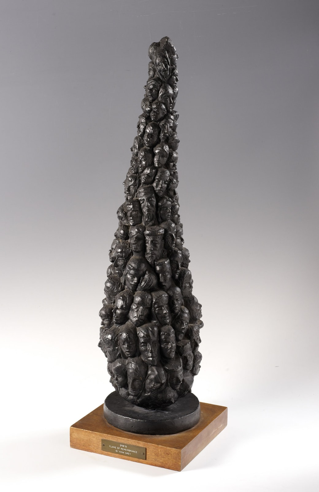 Nina Grey (1907-) Flame of Rememberance 1961 Plaster 86 cm (heigt) Ben Uri Collection © Nina Grey To see and discover more about this artist click here