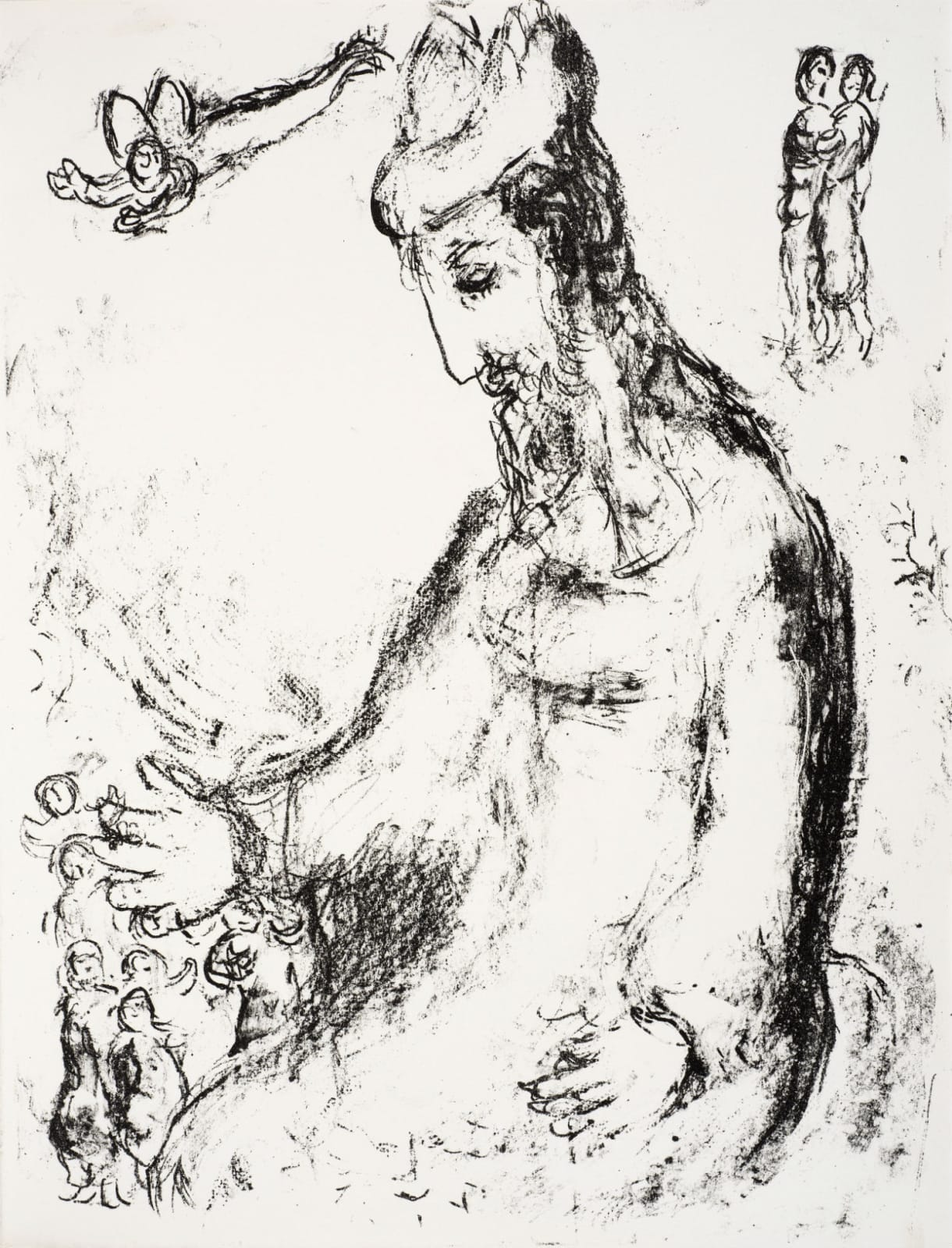Marc Chagall (1887-1985) Prospero's Blessing (Series: Shakespeare The Tempest) 1975 Lithograph 42.5 x 32.5 cm Ben Uri Collection © Marc Chagall estate To see and discover more about this artist click here