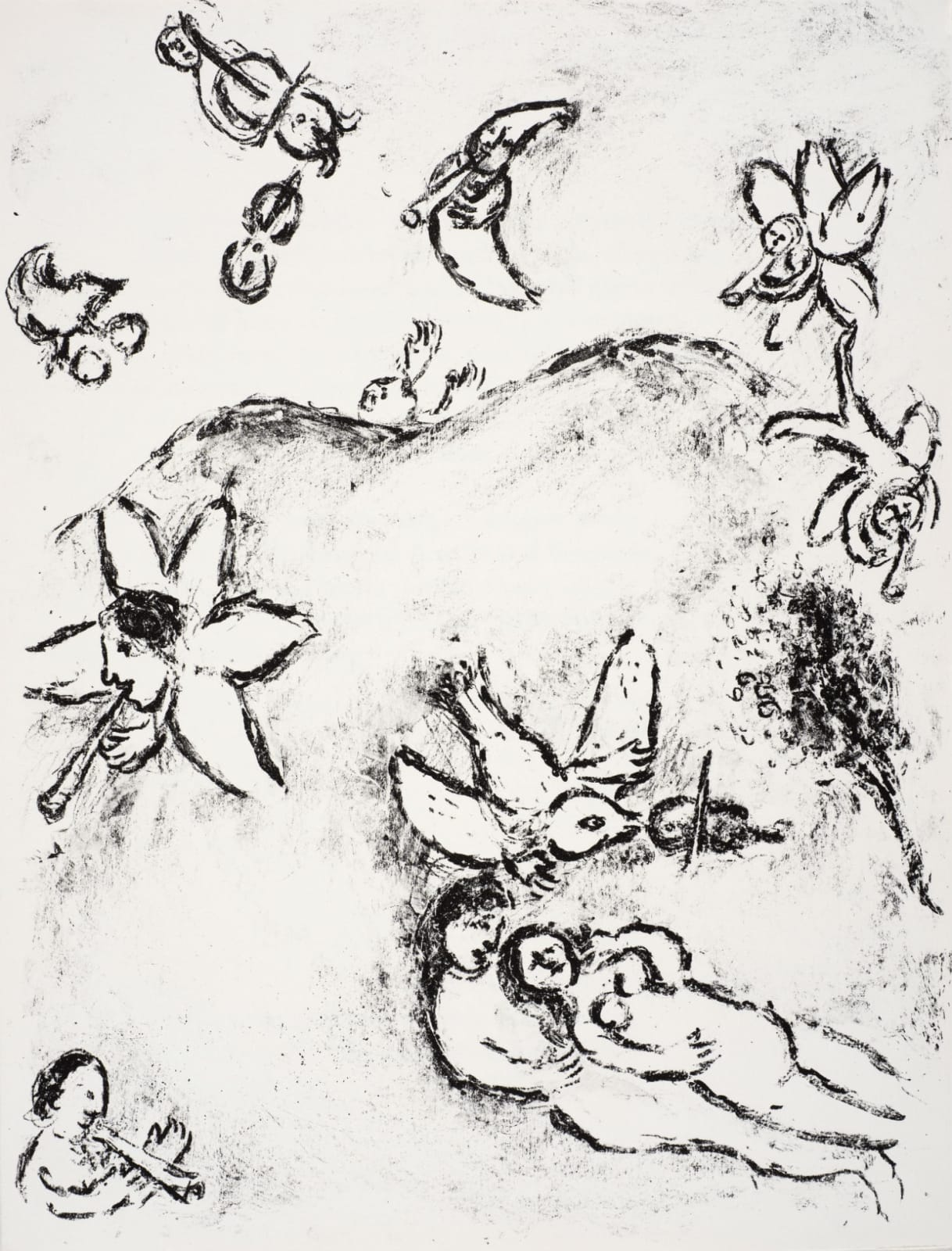 Marc Chagall (1887-1985) Ferdinand and Miranda make Love (Series: Shakespeare The Tempest) 1975 Lithograph 42.5 x 32.5 cm Ben Uri Collection © Marc Chagall estate To see and discover more about this artist click here
