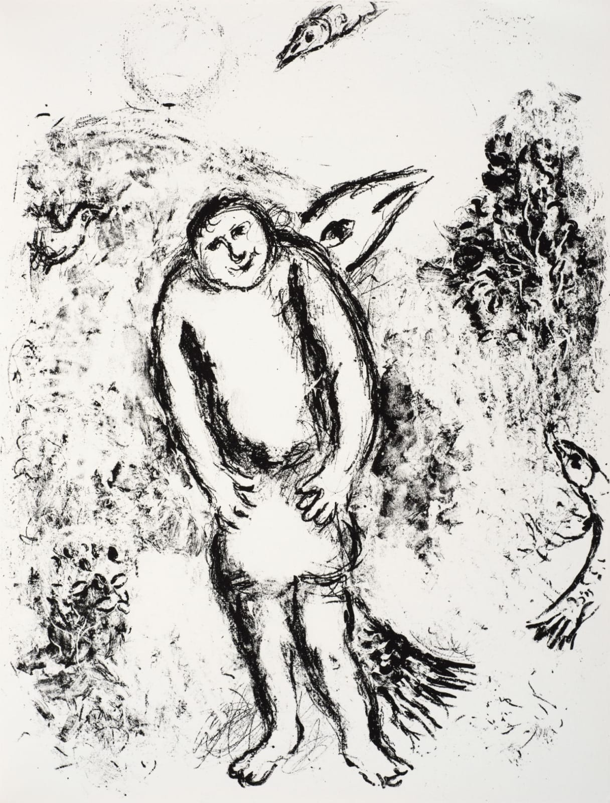 Marc Chagall (1887-1985) Caliban conjoined to a huge Fish (Series: Shakespeare The Tempest) 1975 Lithograph 42.5 x 32.5 cm Ben Uri Collection © Marc Chagall estate To see and discover more about this artist click here
