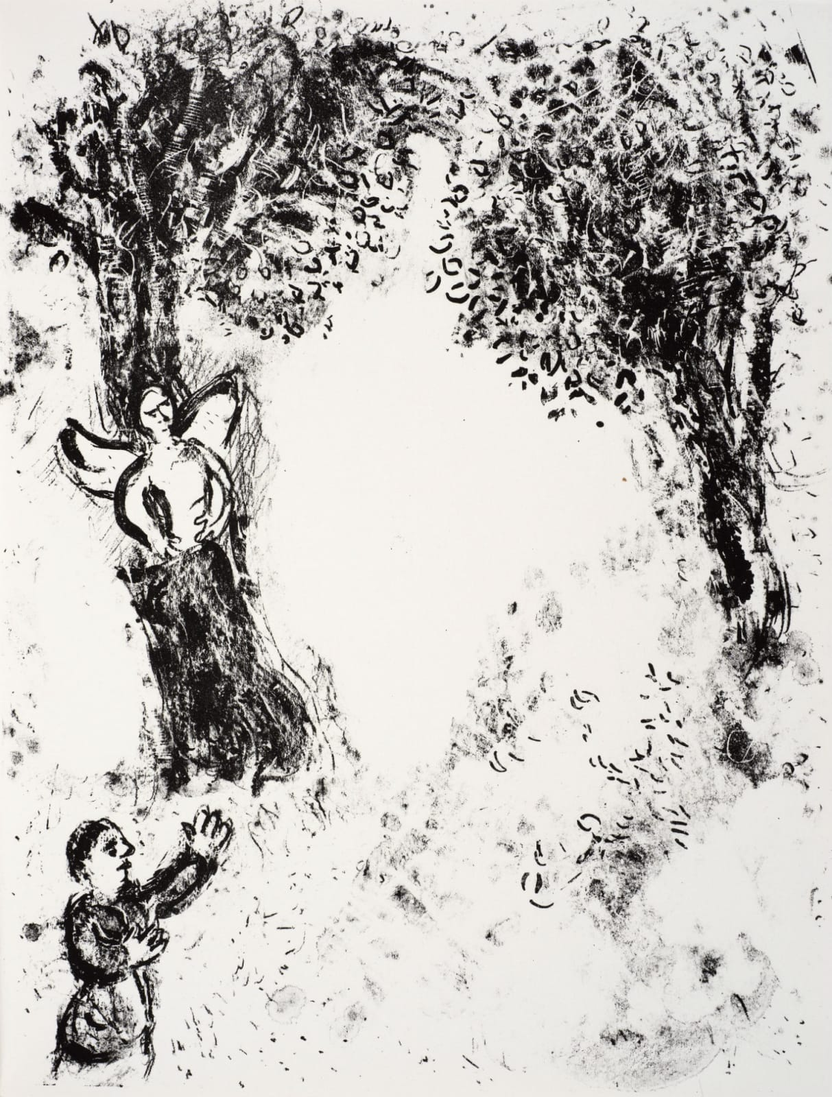 Marc Chagall (1887-1985) Ariel confined in the cloven Pine (Series: Shakespeare The Tempest) 1975 Lithograph 42.5 x 32.5 cm Ben Uri Collection © Marc Chagall estate To see and discover more about this artist click here