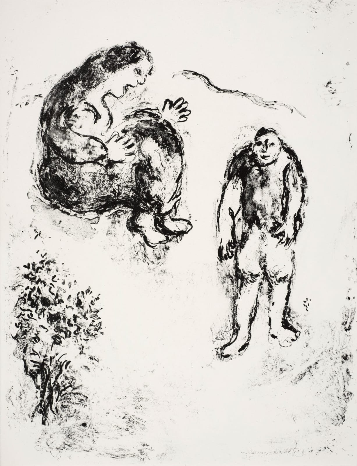 Marc Chagall (1887-1985) The Witch Sycorax and her Son Caliban (Series: Shakespeare The Tempest) 1975 Lithograph 42.5 x 32.5 cm Ben Uri Collection © Marc Chagall estate To see and discover more about this artist click here