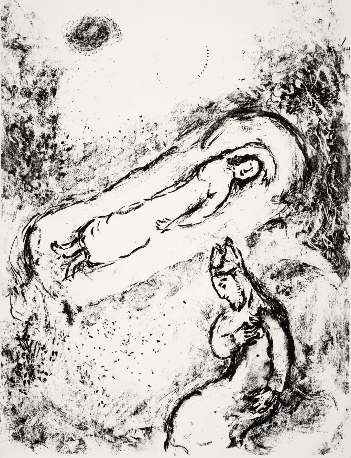Marc Chagall (1887-1985) Miranda sleeps (Series: Shakespeare The Tempest) 1975 Lithograph 42.5 x 32.5 cm Ben Uri Collection © Marc Chagall estate To see and discover more about this artist click here