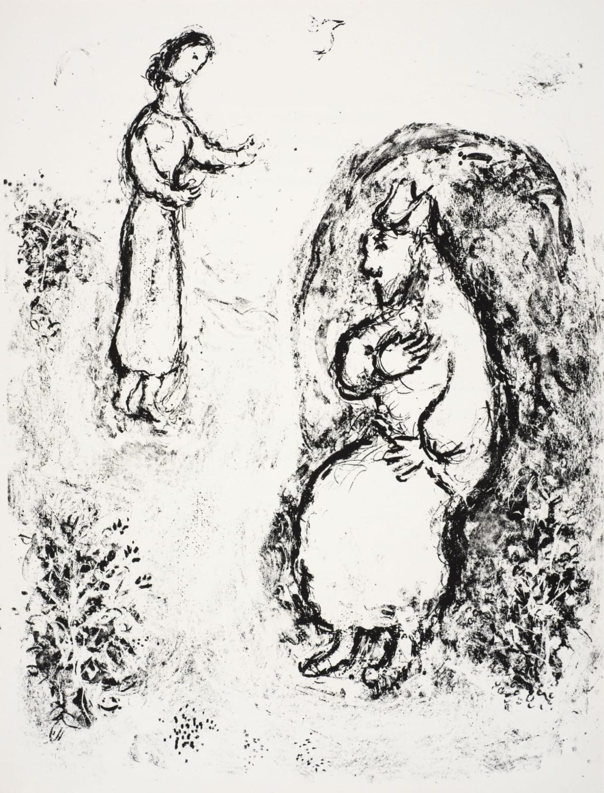 Marc Chagall (1887-1985) Prospero recounts the story of his life to his daughter Miranda (Series: Shakespeare The Tempest) 1975 Lithograph 42.5 x 32.5 cm Ben Uri Collection © Marc Chagall estate To see and discover more about this artist click here