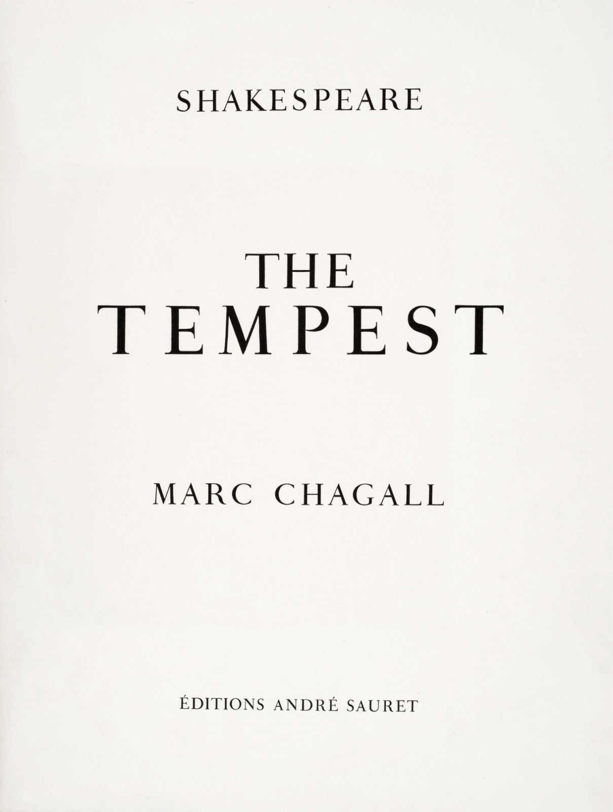 Marc Chagall (1887-1985) Title page (Series: Shakespeare The Tempest) 1975 Lithograph 42.5 x 32.5 cm Ben Uri Collection © Marc Chagall estate To see and discover more about this artist click here