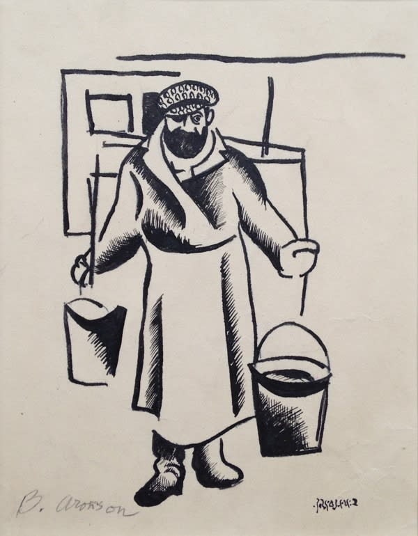 Boris Aronson (1898-1980) Tevye the Milkman n.d. Woodcut on paper 15 x 14.4 cm Ben Uri Collection © Boris Aronson estate To see and discover more about this artist click here