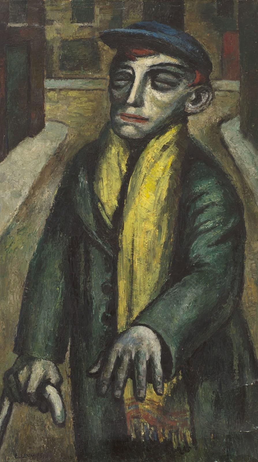Emmanuel Levy (1900-1986) The Blind Man of Hightown 1946 Oil on canvas 106 x 59.5 cm Ben Uri Collection © Emmanuel Levy estate