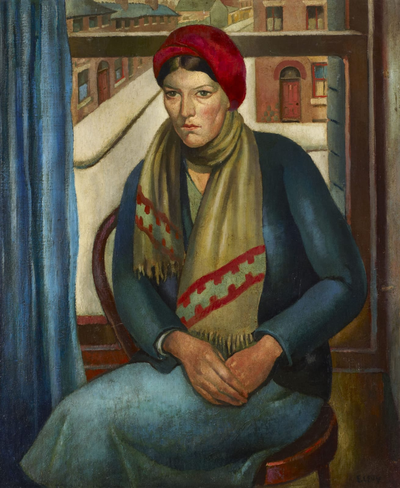 Emmanuel Levy (1900-1986) Girl at a Window 1935 Oil on canvas 75.5 x 62.5 cm Ben Uri Collection © Emmanuel Levy estate