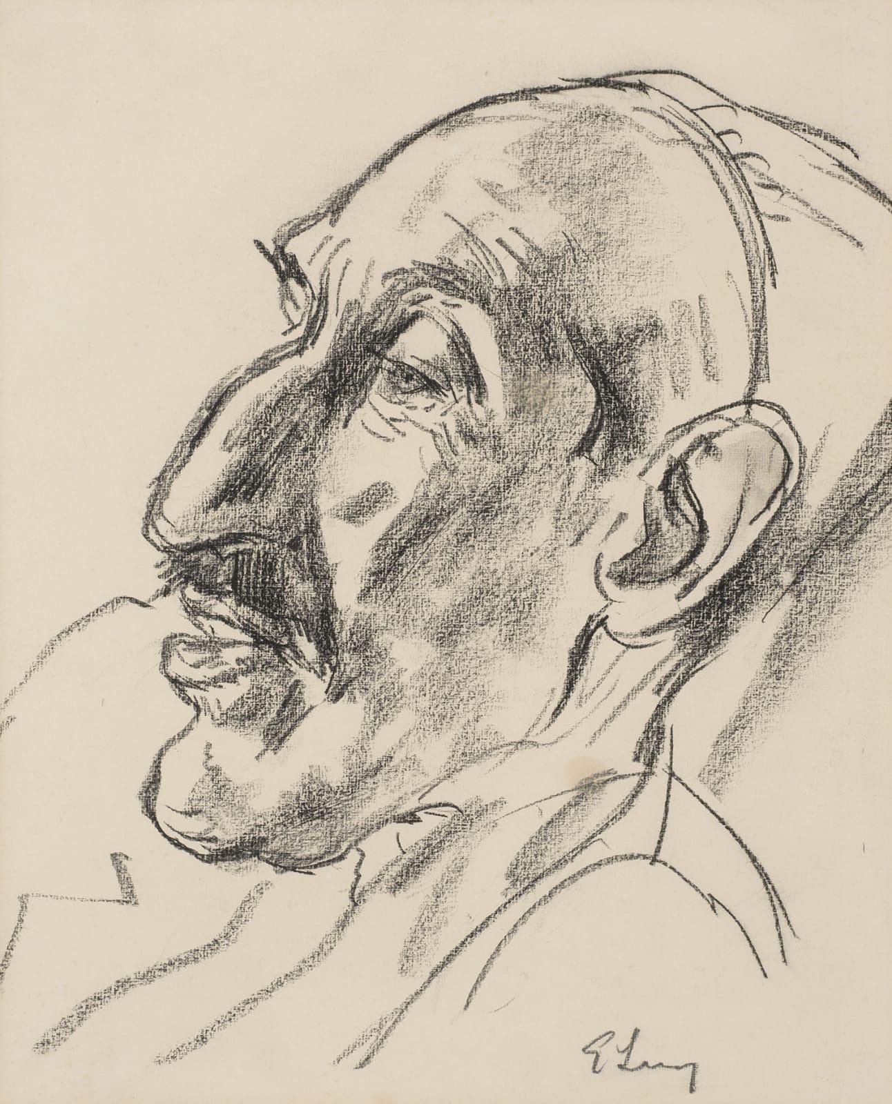Emmanuel Levy (1900-1986) Portrait of Horace Brodzky n.d. Pencil on paper 38.4 x 30.5 cm Ben Uri Collection © Emmanuel Levy estate