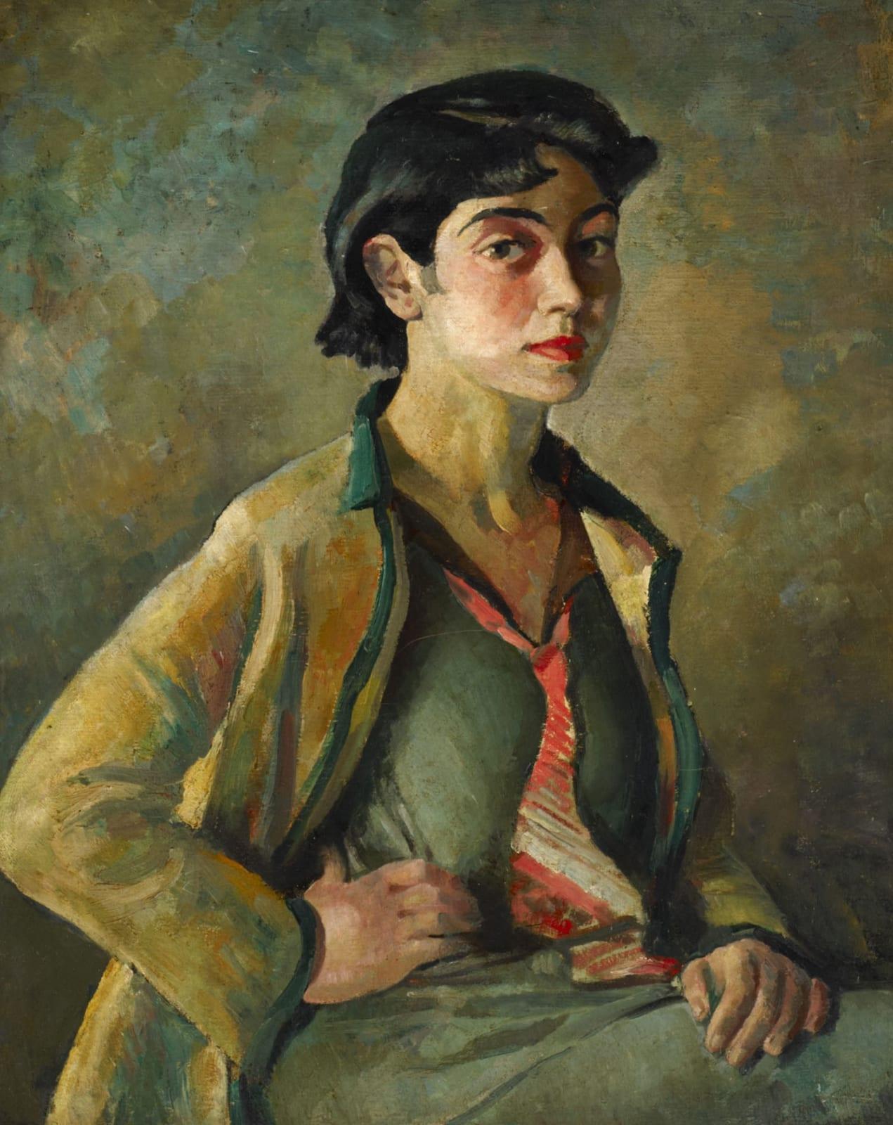 Emmanuel Levy (1900-1986) The Gold Jacket 1935 Oil on canvas 72 x 58 cm Ben Uri Collection © Emmanuel Levy estate