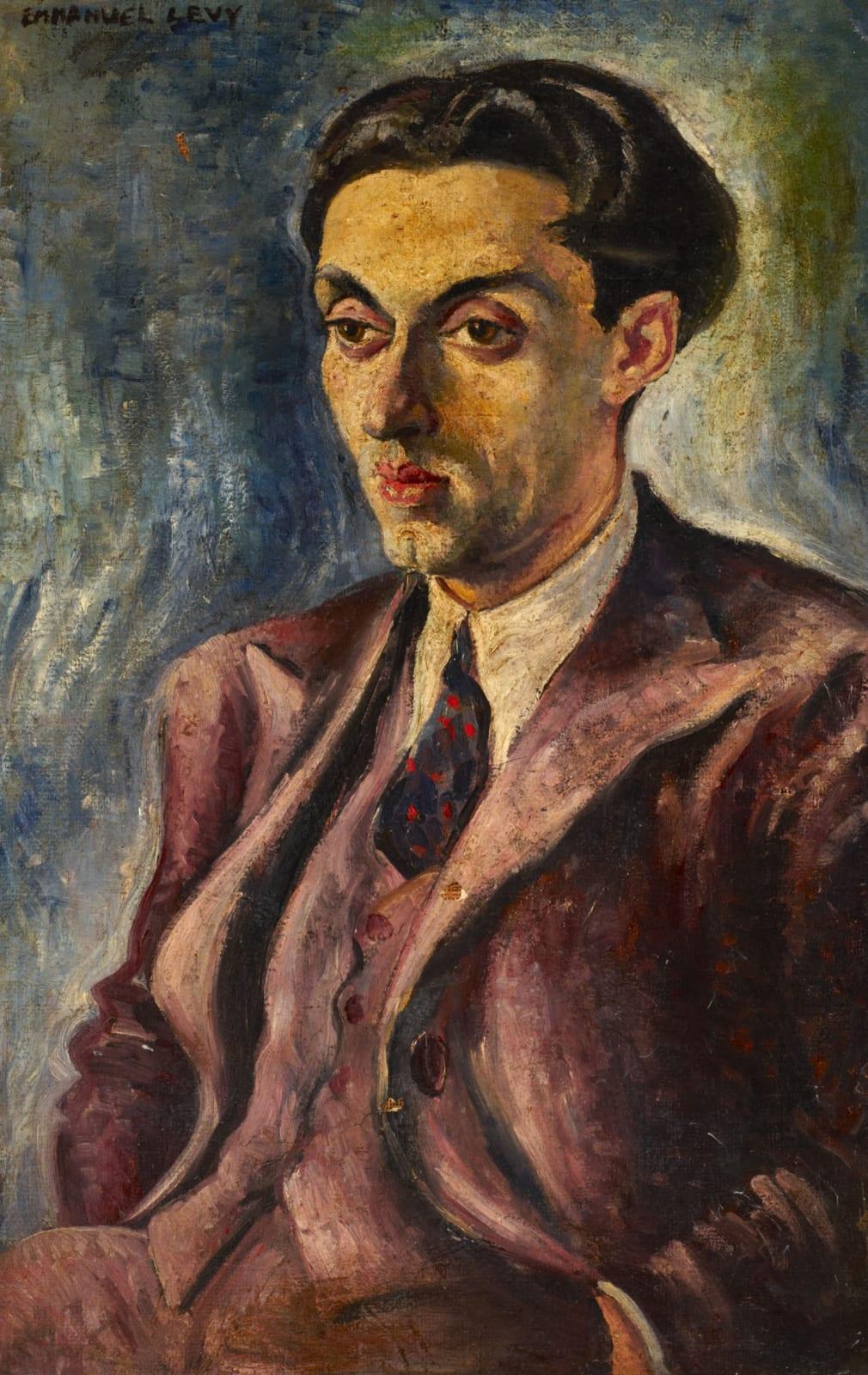 Emmanuel Levy (1900-1986) Portrait of a Man 1930s Oil on canvas 75 x 49 cm Ben Uri Collection © Emmanuel Levy estate