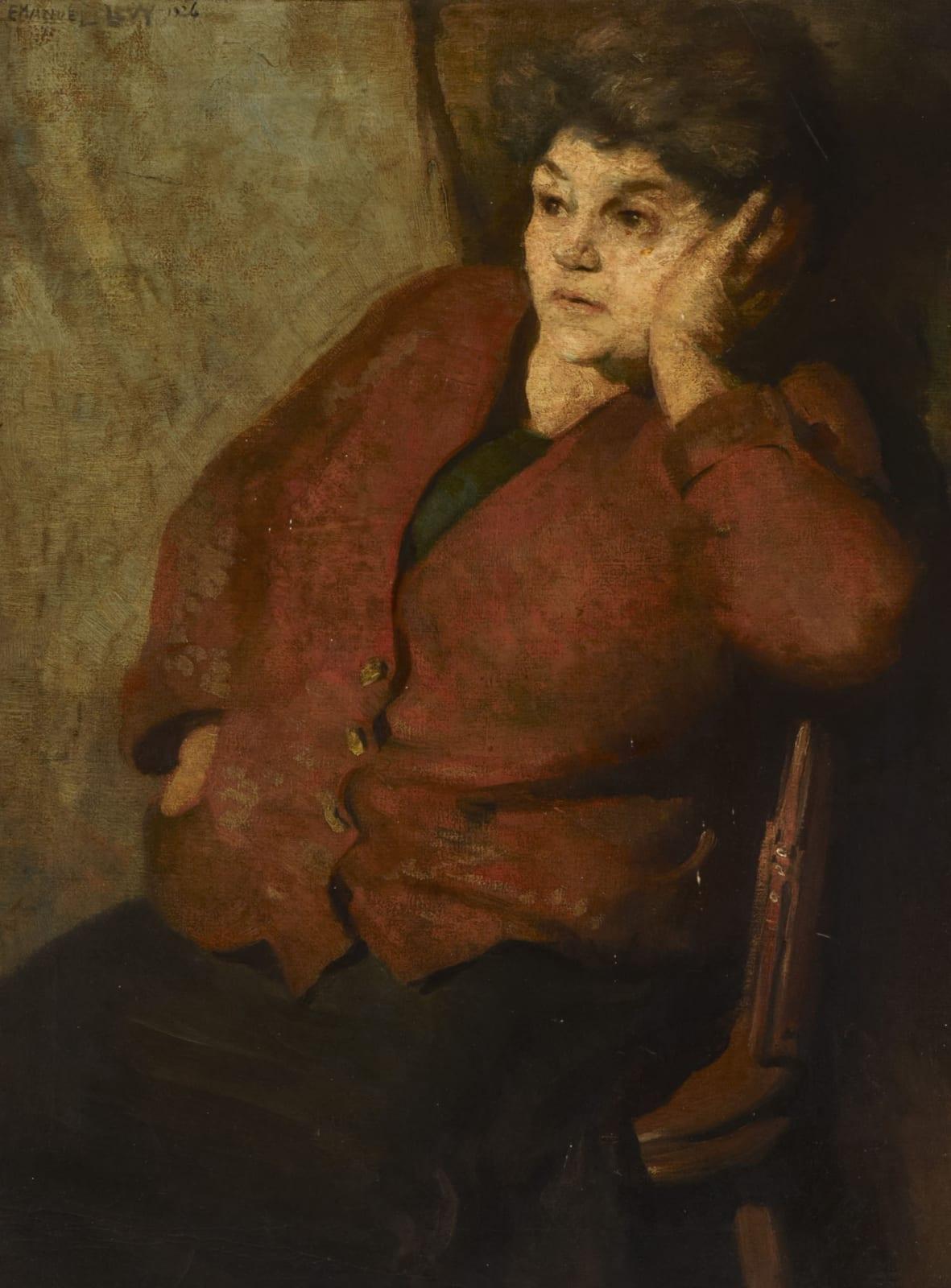 Emmanuel Levy (1900-1986) The Artist's Mother 1926 Oil on canvas 59.5 x 44.5 cm Ben Uri Collection © Emmanuel Levy estate