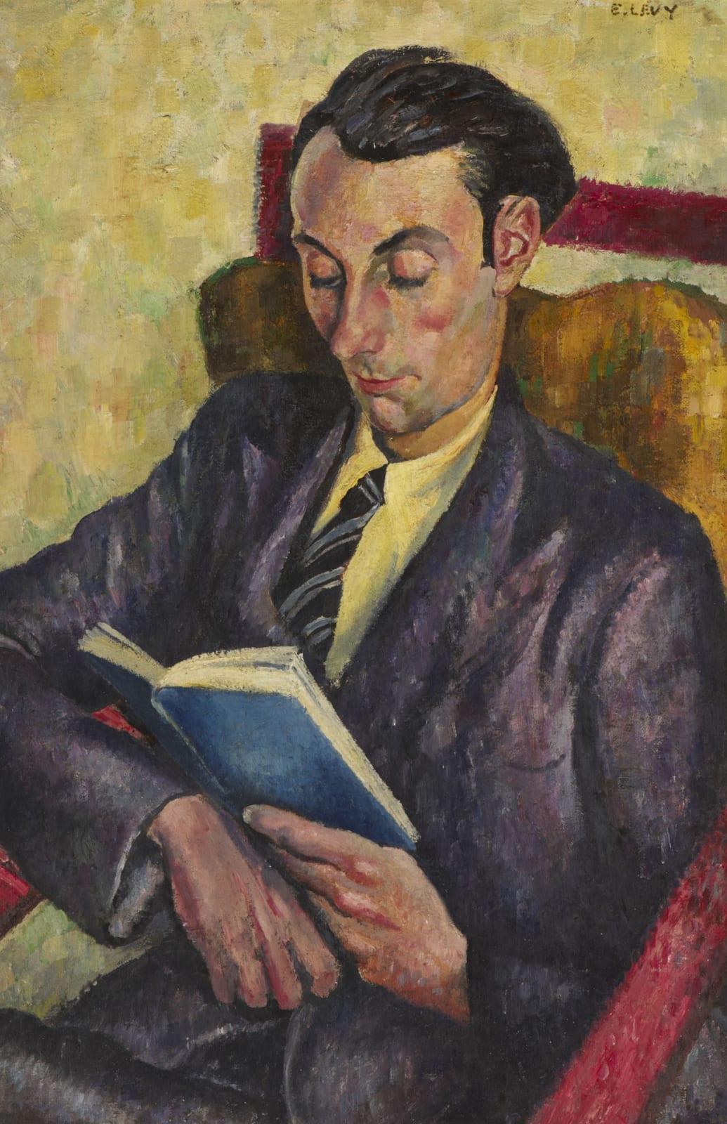 Emmanuel Levy (1900-1986) Man Reading 1930s Oil on canvas 74 x 48.5 cm Ben Uri Collection © Emmanuel Levy estate