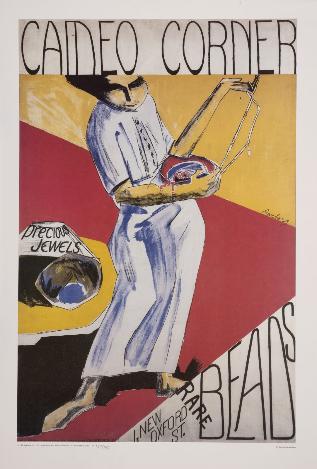 David Bomberg (1890-1957) Cameo Corner 1919 (reprinted 1983) Lithographic poster 83 x 55.5 cm Ben Uri Collection © David Bomberg estate