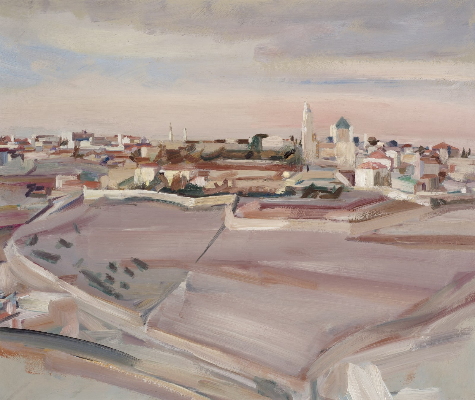 David Bomberg (1890-1957) Mount Zion and the Church of the Dormition, Jerusalem 1923 Oil on canvas 49 x 60 cm Ben Uri Collection © David Bomberg estate