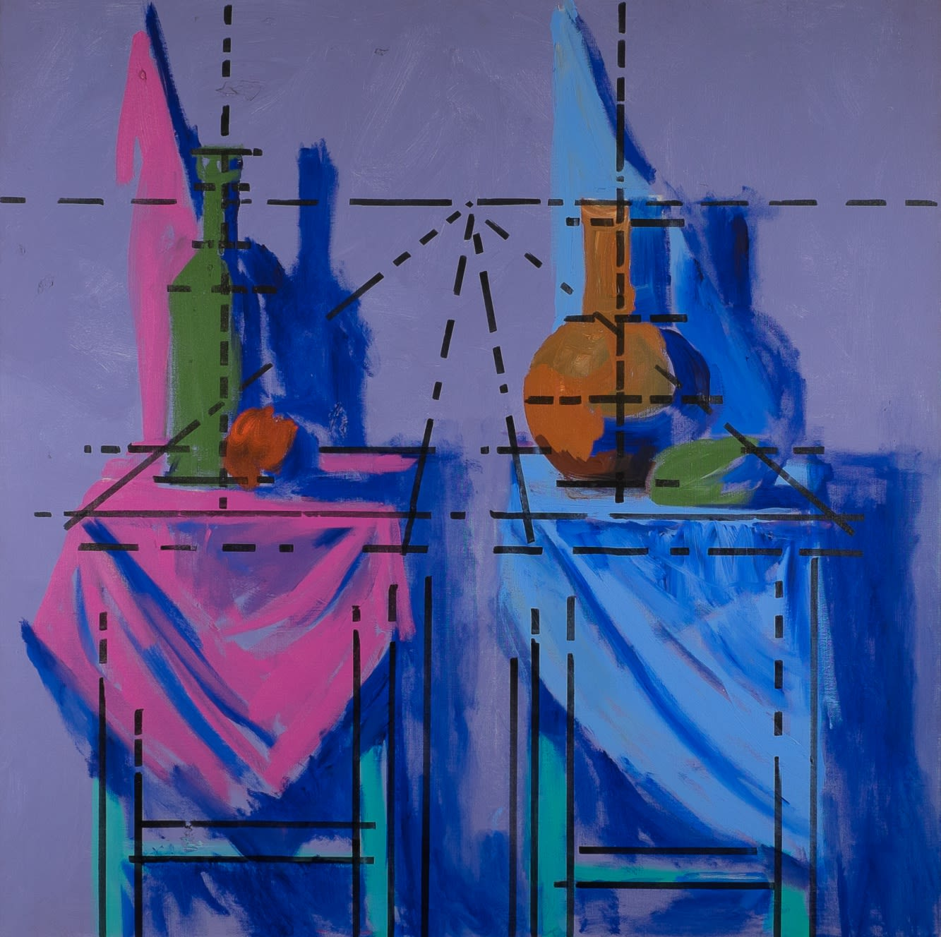 Komar (b. 1943) and Melamid (b. 1945) Yalta 1945 1986-1987 Mixed media 121.92 x 121.92 cm On loan to Ben Uri Collection © Vitaly Komar and Alexander Melamid To see and discover more about these artists click here