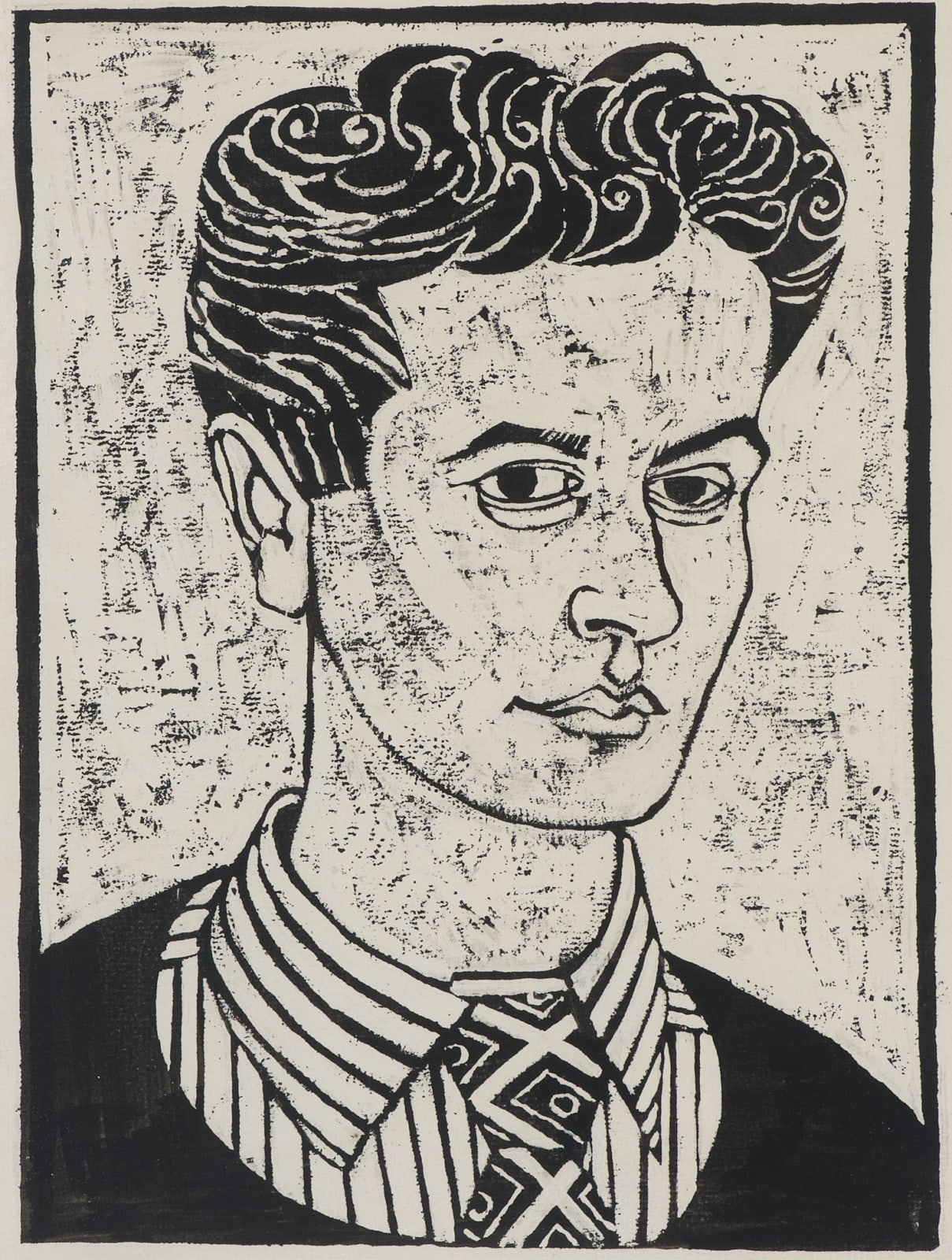 Alfred Daniels (1924-2015) Self Portrait n.d. Pen and ink and white paint on paper and board 35 x 26.5 cm Ben Uri Collection © Alfred Daniels