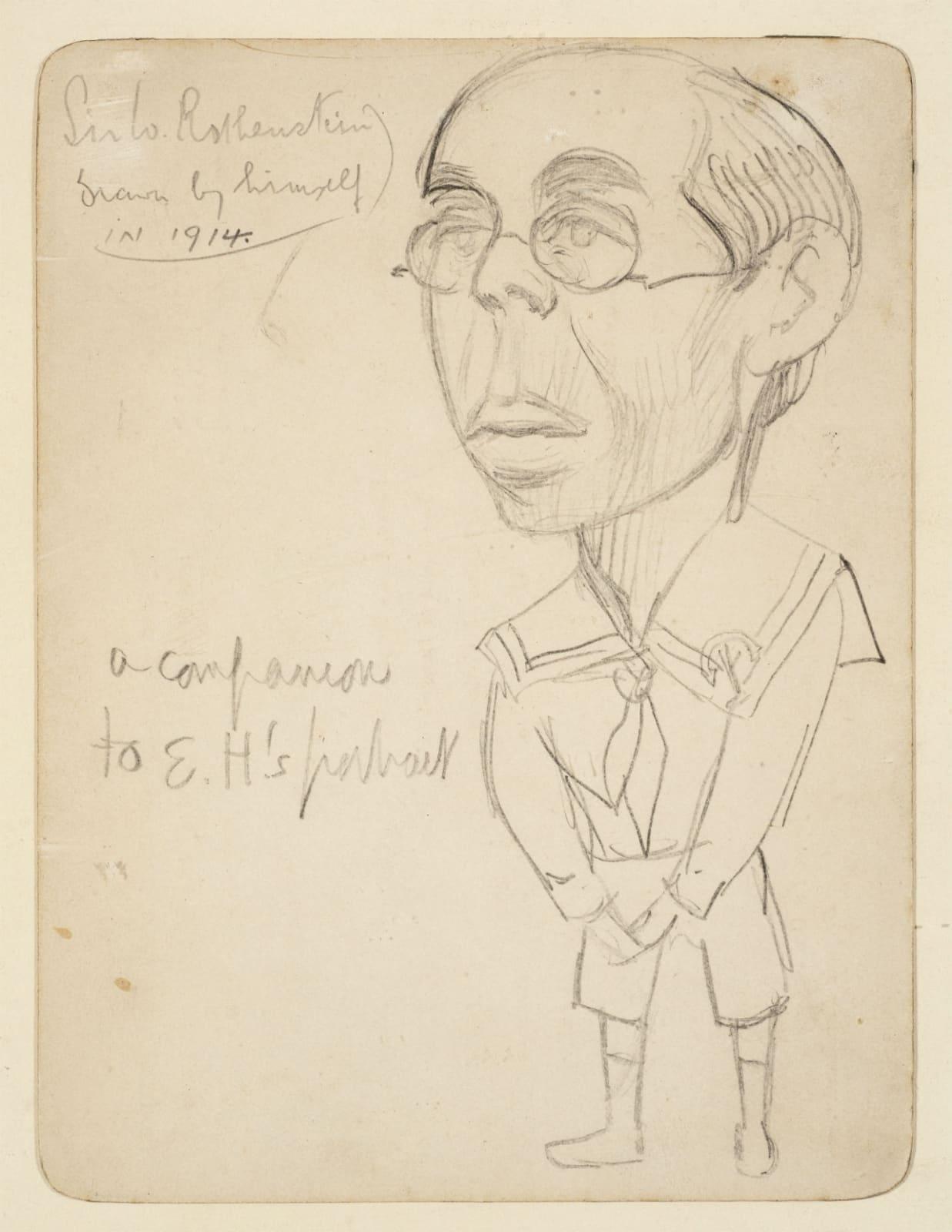 William Rothenstein (1872-1945) Self Portrait 1914 Pencil on paper 15.24 x 11.43 cm Ben Uri Collection