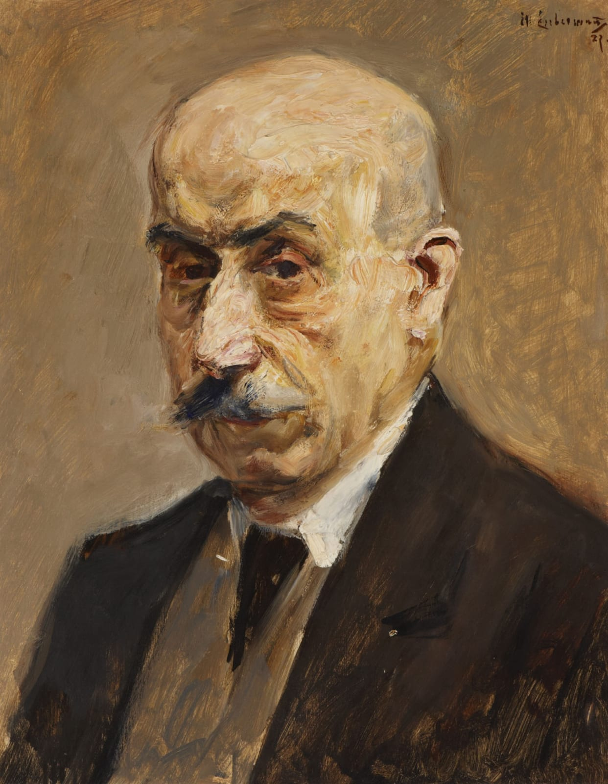 Max Liebermann (1847-1935) Self Portrait 1927 Oil on board 48 x 38 cm Ben Uri Collection