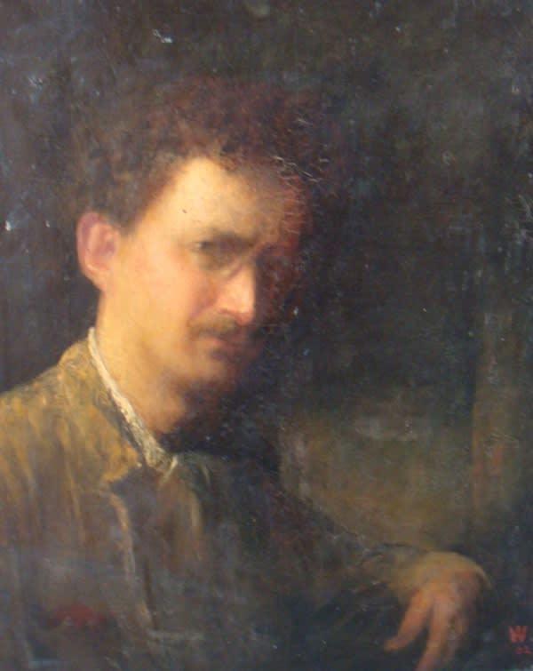 Alfred Wolmark (1877-1961) Self Portrait 1902 Oil on canvas on board 61 x 51 cm Ben Uri Collection © Alfred Wolmark estate
