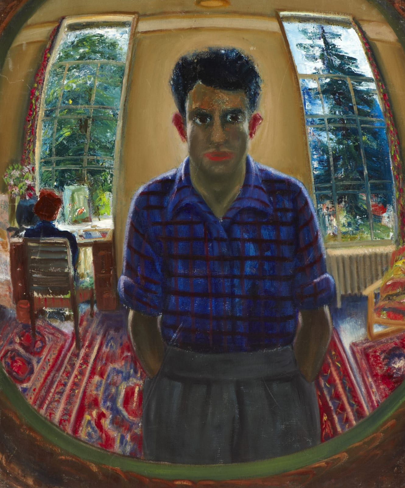 Maurice Mancini Roith (1900-1958) Man in the Mirror, Self Portrait n.d. Oil on canvas 60.5 x 50.8 cm Ben Uri Collection © Maurice Mancini Roith estate