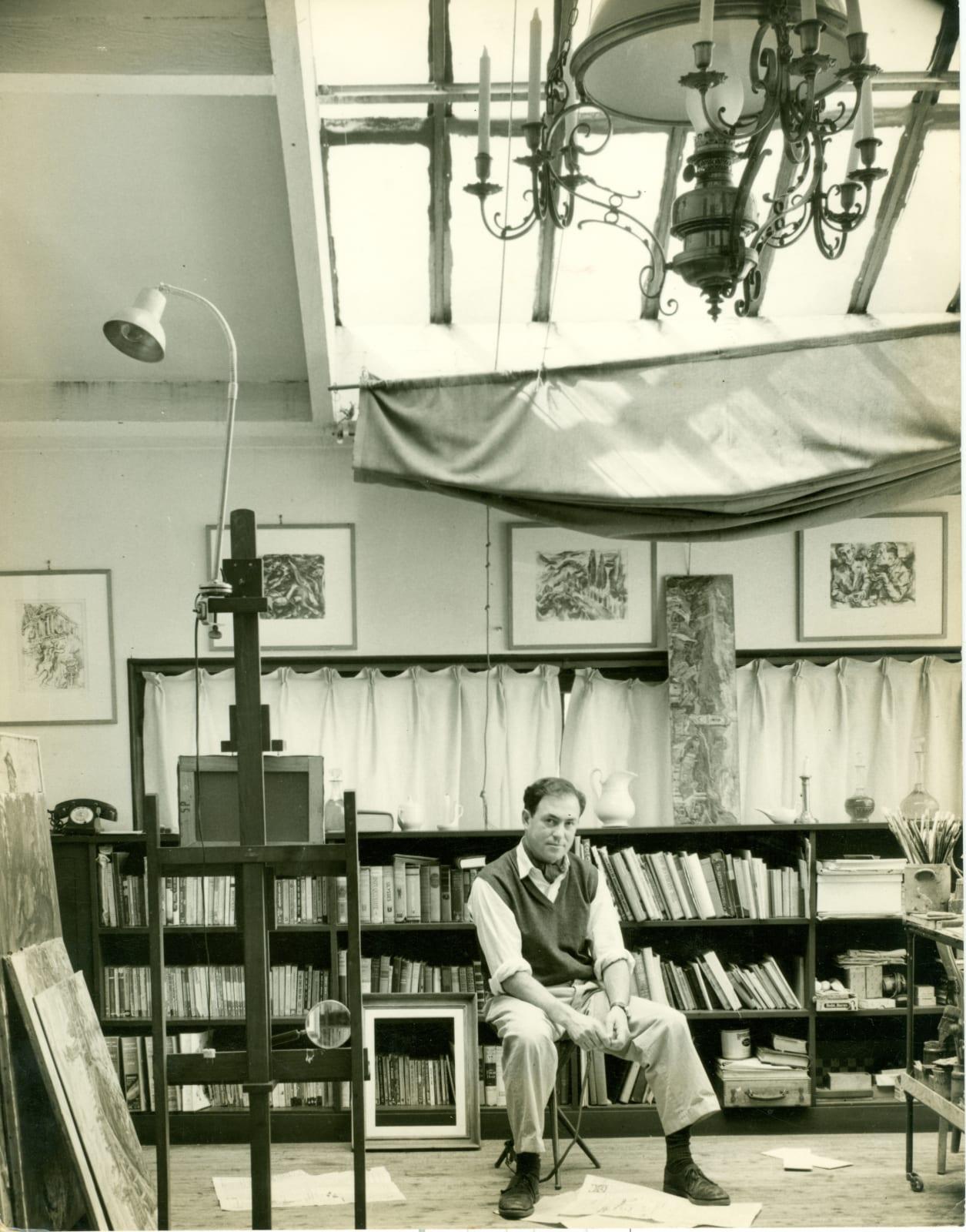 Paris: the 1950s Photo - Alfred Cohen in studio at 65 Boulevard Arago Paris, 1950s