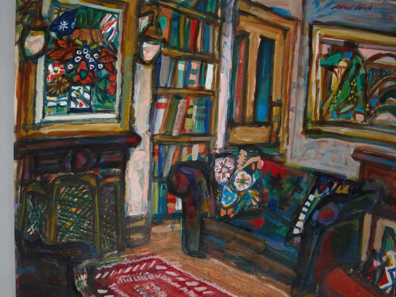 Alfred Cohen (1920-2001) The Best Room 1991 Oil on board 50.8 x 61 cm Private Collection © Estate of Alfred Cohen 2020