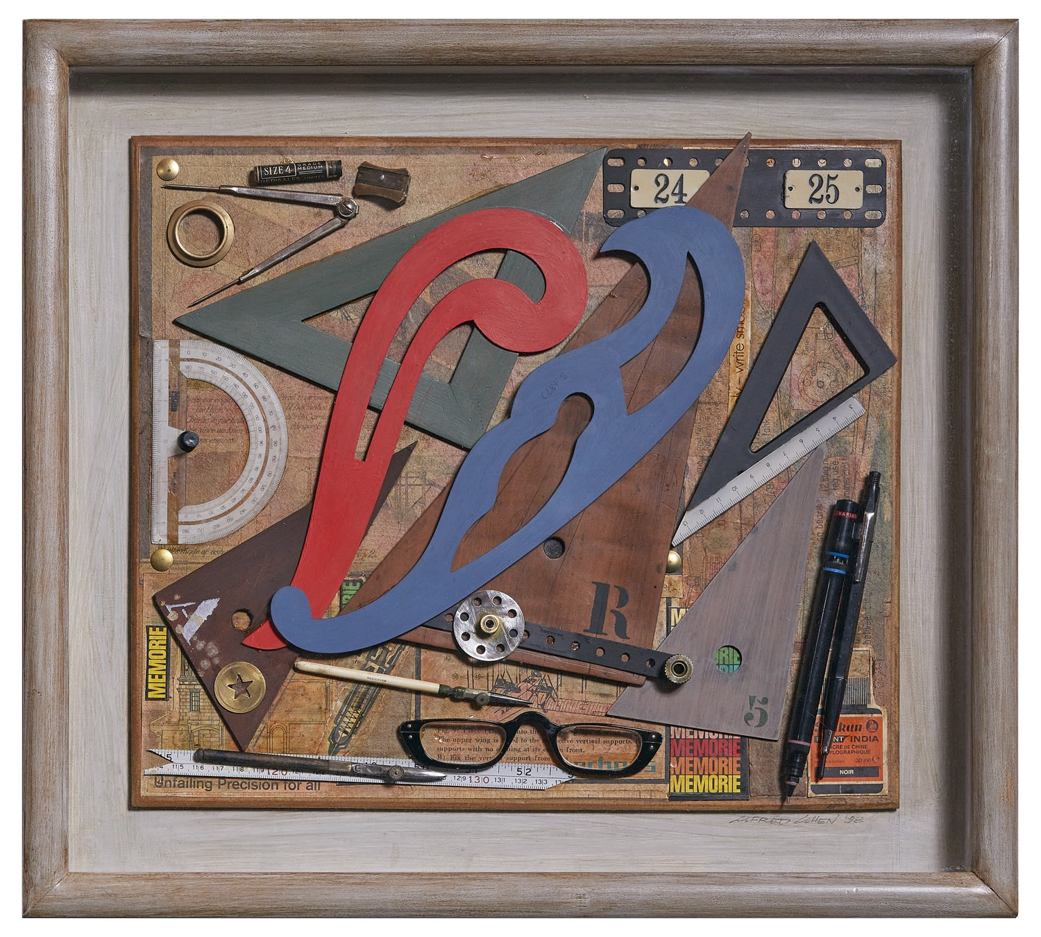 Alfred Cohen (1920-2001) The Draughtsman 1998 Assemblage 31.8 x 37.5 cm Private Collection © Estate of Alfred Cohen 2020