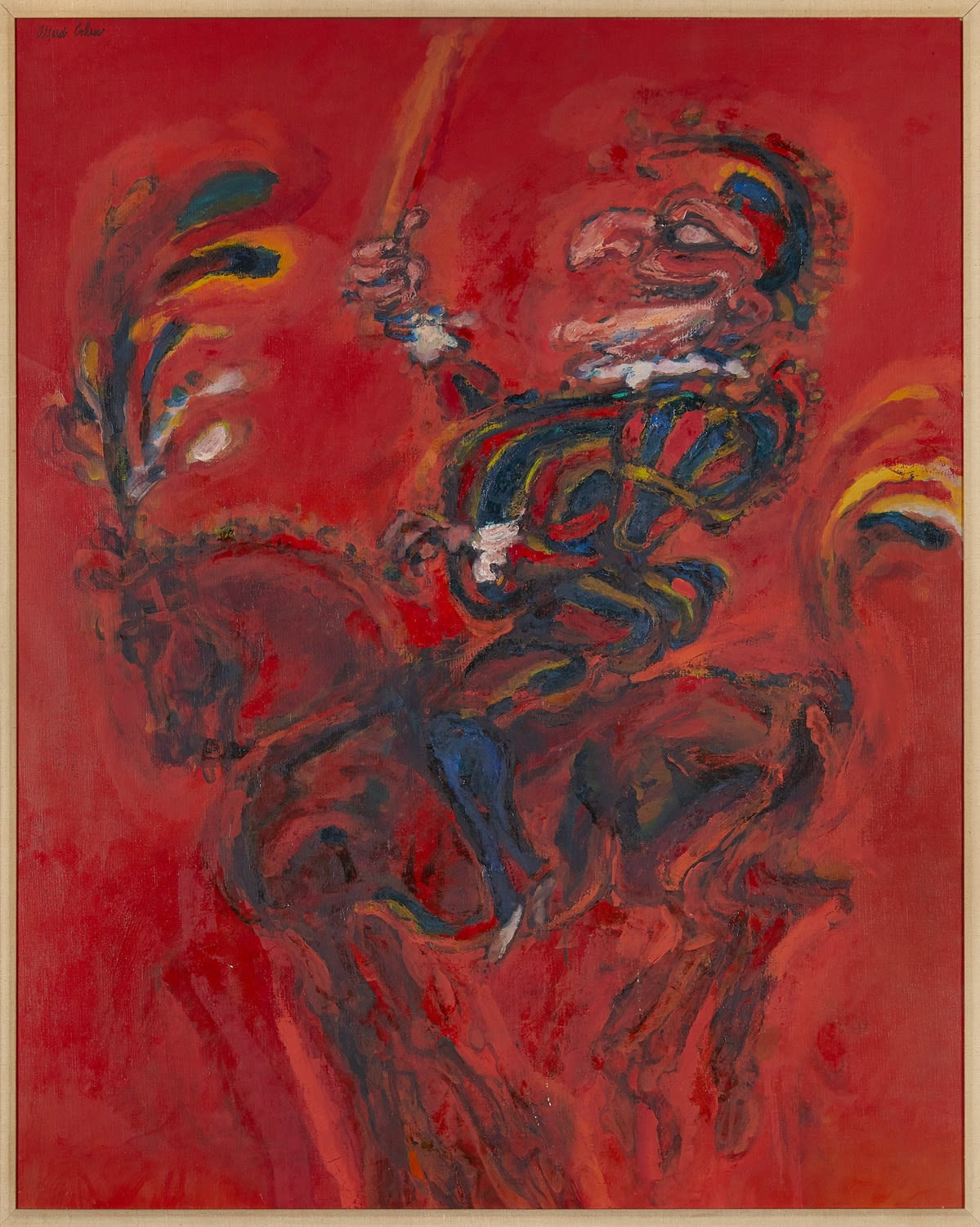 Alfred Cohen (1920-2001) The Entrance of Punch 1963 Oil on canvas 101.6 x 81.3 cm Alfred Cohen Art Foundation; gift of Michael and Jill Barrington © Estate of Alfred Cohen 2020