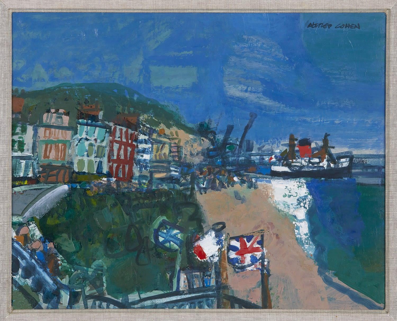 Alfred Cohen (1920-2001) Folkestone 1974-75 Oil on hardboard 40.6 x 50.8 cm Private Collection © Estate of Alfred Cohen 2020