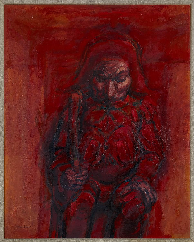 Alfred Cohen (1920-2001) Polichinelle Rex 1963 Oil on canvas 101.6 x 81.3 cm Alfred Cohen Art Foundation: gift of Muriel Hallatt © Estate of Alfred Cohen 2020